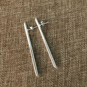 Noonday Silver Bar Earrings